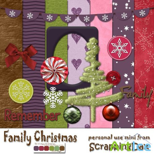 Scrap - Family Christmas PNG and JPG Files