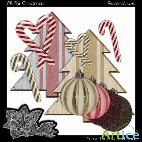 All For Christmas PNG Files