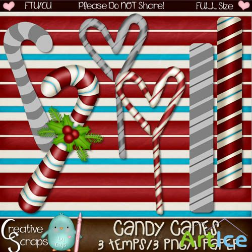Scrap - Candy Canes
