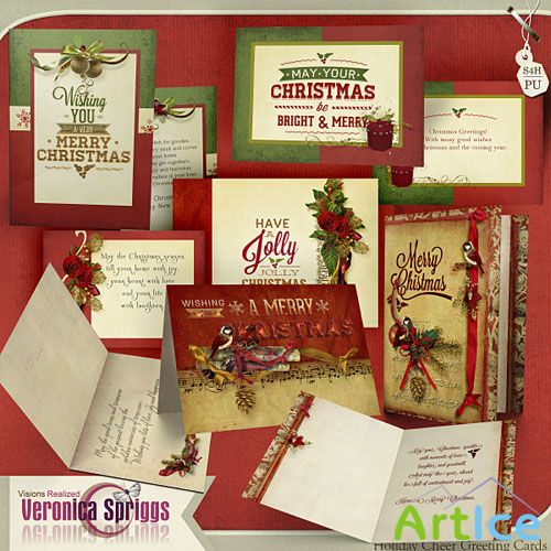 Christmas Cards  PNG and JPG Files