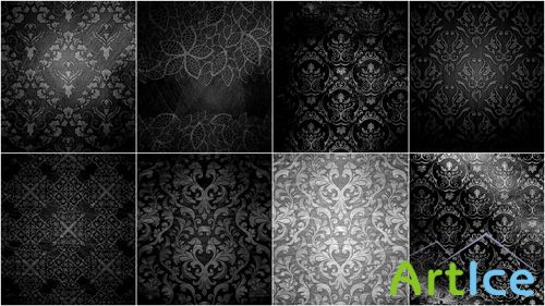 Set of Black Texture with Patterns JPG Files