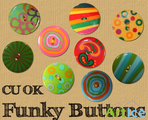 Funky Buttons PNG Files