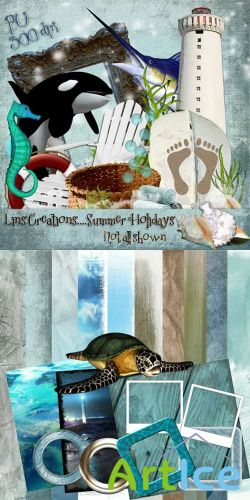 Scrap Set - Summer Holiday PNG and JPG Files