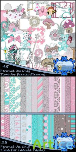 Scrap Set - Time For Faeries PNG and JPG FIles