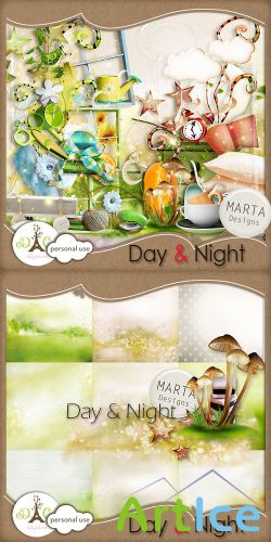 Scrap Set - Day & Night PNG and JPG Files