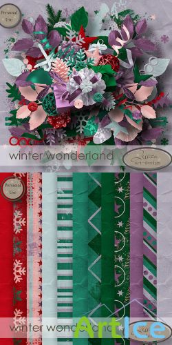 Scrap - Winter Wonderland PNG and JPG Files