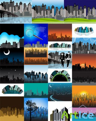 Metropolitan City Buildings Vector