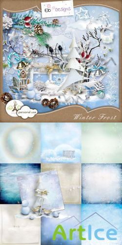 Scrap - Winter Frost PNG and JPG Files