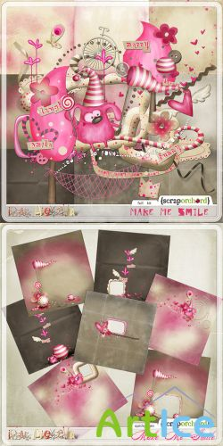 Scrap Set - Make Me Smile PNG and JPG Files