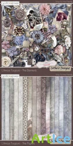 Scrap Set - Lamour Toujours PNG and JPG Files