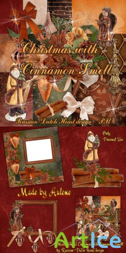 Scrap Set - Christmas with Cinnamon Smell PNG and JPG Files