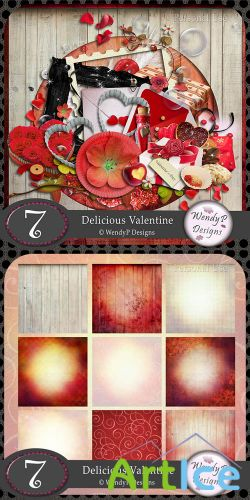 Scrap Set - Delicious Valentine PNG and JPG Files