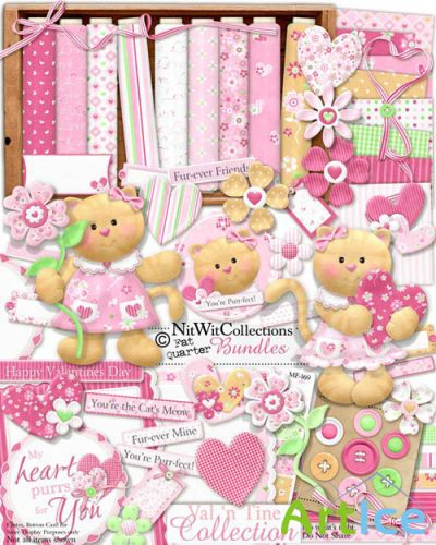 Scrap Set - Val'n Tine Collection PNG and JPG Files