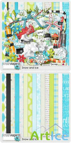Scrap Set - Snow and Ice PNG and JPG Files