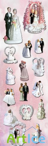 Wedding Figurines PNG Files