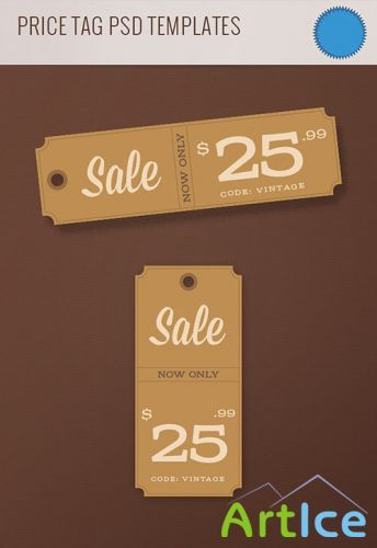 Price Tag PSD Template