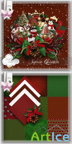 Scrap Set - Surprise Christmas PNG and JPG Files