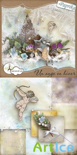Scrap Kit - Un Ange en Hiver PNG and JPG Files