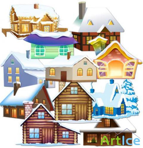 Winter Home PNG Files
