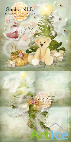 Merry Christmas Scrap Set PNG and JPG Files