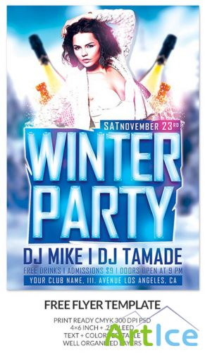 Winter Event Party Flyer/Poster PSD Template