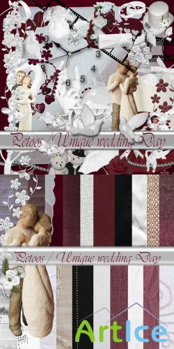 Scrap Set - Unique Wedding Day PNG and JPG Files