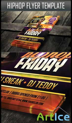 Flyer Template Hiphop PSD