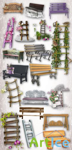 Benches and Ladders PNG Files