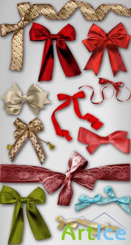 Christmas Bows PNG Files