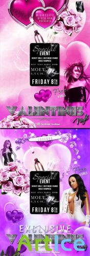 2 Excusive Valentines Flyer Templates