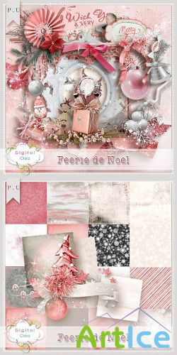 Scrap Set - Feerie de Noel PNG and JPG Files