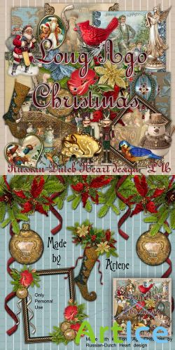 Scrap Set - Long Ago Christmas PNG and JPG Files