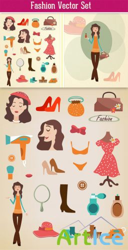 Designtnt - Fashion Vector Set 2