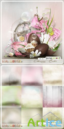 Scrap Set - Charming Easter PNG and JPG Files