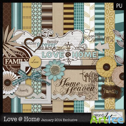 Scrap Set - Love @ Home PNG and JPG Files