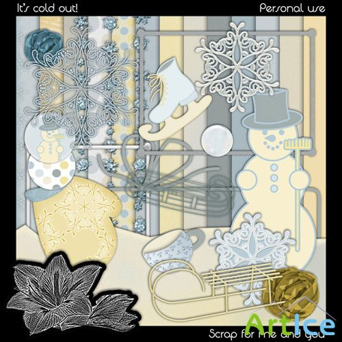 Scrap Set - It's Cold Out! PNG and JPG Files