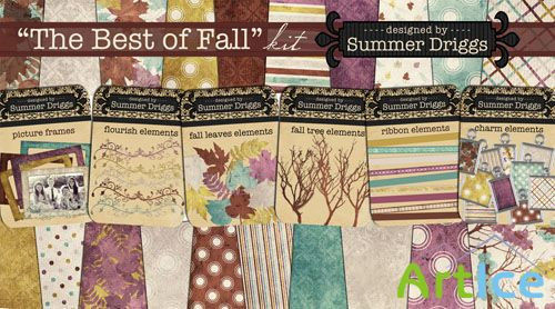 The Best of Fall Kit PNG and JPG Files