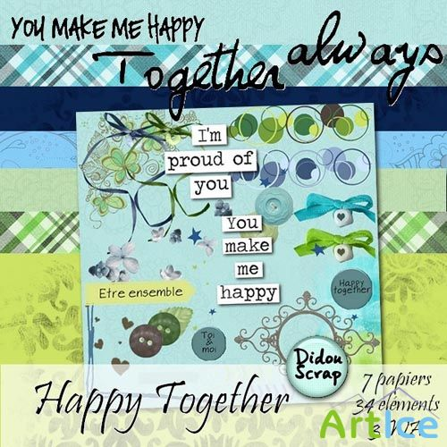 Scrap - Together Always Kit PNG and JPG Files