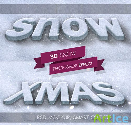 3D Snow Photoshop Style