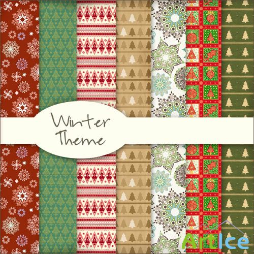 Winter Theme Textures JPG Files