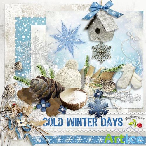 Scrap - Cold Winter Days PNG and JPG Files