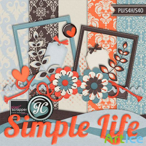 Scrap - Simple Life PNG and JPG Files