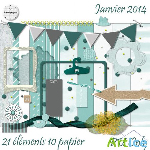 Scrap - Janvier 2014 PNG and JPG Files