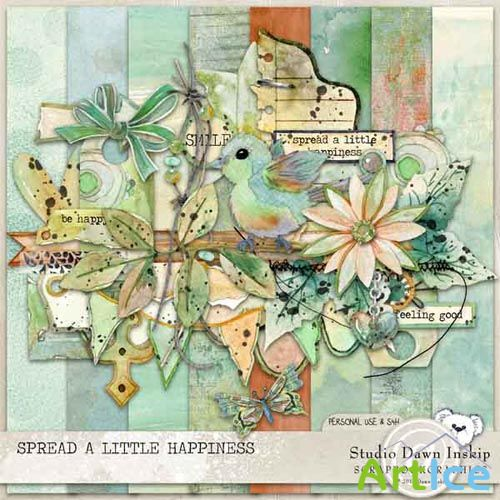 Scrap - Spread a Little Happiness PNG and JPG Files