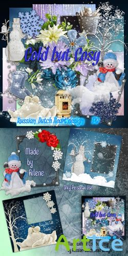 Scrap Set - Cold but Cosy PNG and JPG Files