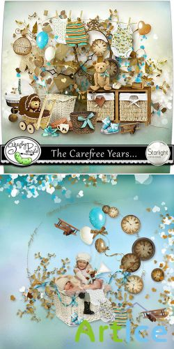 Scrap Set - The Carefree Years... PNG and JPG Files