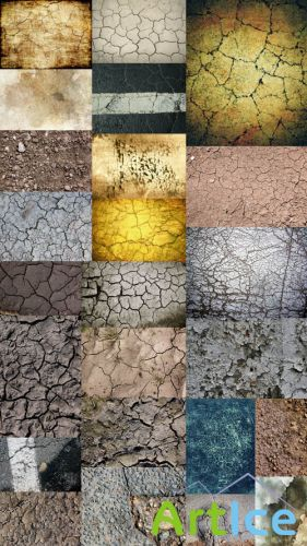 Cracked Soil (a Large Collection of Textures) JPG Files
