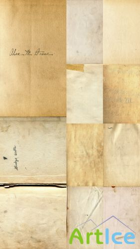 Blank pages of old books set of Textures JPG Files