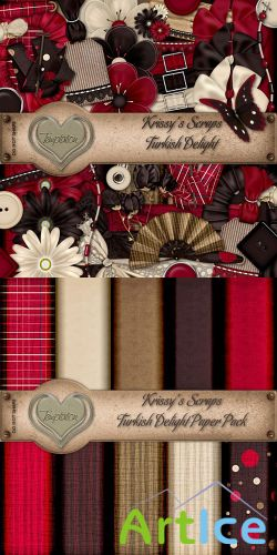 Scrap Set - Turkish Delight PNG and JPG Files