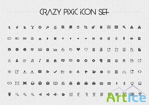 126 Vector Clean Pixel Icons